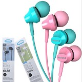 REMAX Earphone Original Extra Bass Sound [RM-501] - Pink - Earphone Ear Monitor / Iem